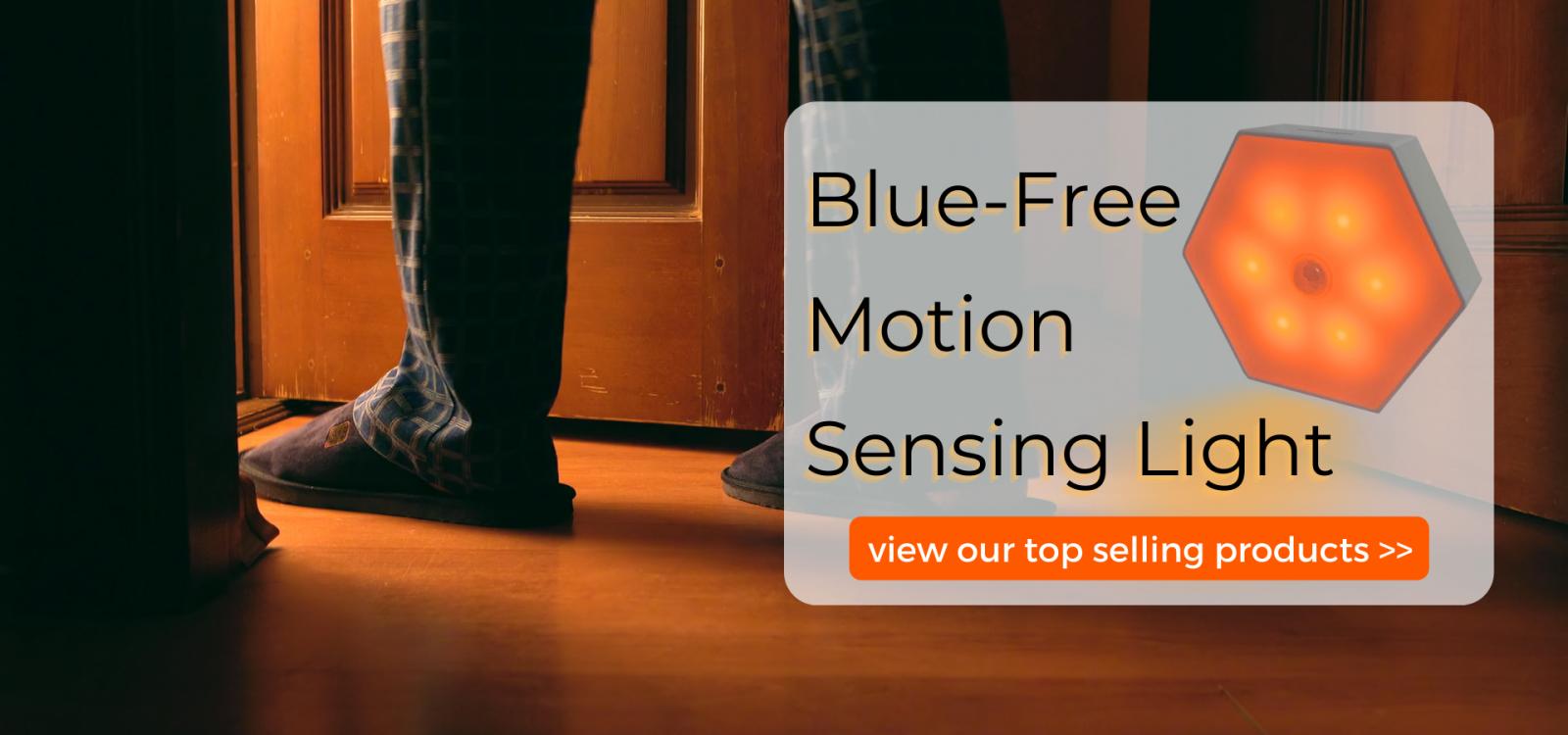 Blue-free motion sensing light